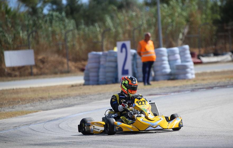 Alexandre Arrue - In azione nella 1a Prova del Campionato Italiano Aci Karting 2020