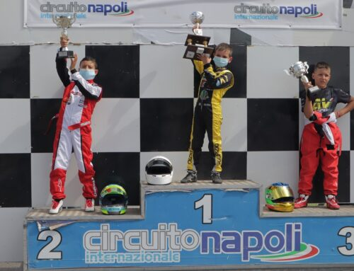 TK Racing Kart On The Highest Step Of The Podium In Under 10 With Sulpizio